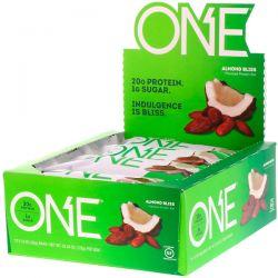 One Brands, ONE Bar, Almond Bliss, 12 Bars, 2.12 oz (60 g) Each Pozostałe