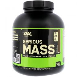 Optimum Nutrition, Serious Mass, High Protein Weight Gain Powder, Chocolate, 6 lbs (2.72 kg) Pozostałe