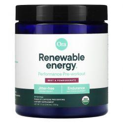 Ora, Renewable Energy, Performance Pre-Workout, Beet & Pomegranate, 0.44 lbs (200 g) Pozostałe