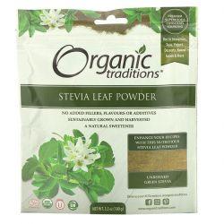 Organic Traditions, Stevia Leaf Powder, 3.5 oz (100 g) Pozostałe