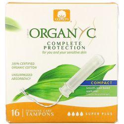 Organyc, Organic Tampons, Compact, Super Plus, 16 Tampons Pozostałe