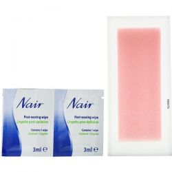 Nair, Hair Remover, Wax Ready-Strips, For Legs & Body, 40 Wax Strips + 6 Post Wipes
