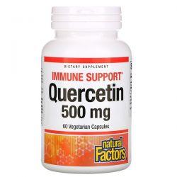 Natural Factors, Quercetin, 500 mg, 60 Vegetarian Capsules Pozostałe