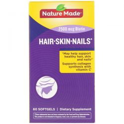 Nature Made, Hair, Skin, & Nails, 60 Softgels Pozostałe