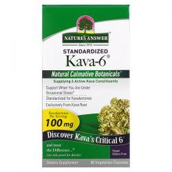 Nature's Answer, Standardized Kava-6 , 90 Vegetarian Capsules Pozostałe