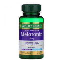Nature's Bounty, Dual Spectrum, Melatonin, 5 mg, 60 Bi-Layer Tablets Pozostałe