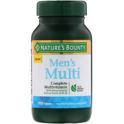 Nature's Bounty, Men's Multi, Complete Multivitamin, 100 Tablets Pozostałe