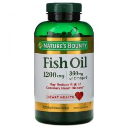 Nature's Bounty, Fish Oil, 1200 mg, 320 Rapid Release Softgels Pozostałe
