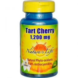 Nature's Life, Tart Cherry, 1,200 mg, 30 Tablets Pozostałe
