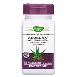 Nature's Way, Aloelax with Fennel Seed, 340 mg, 100 Vegan Capsules Pozostałe