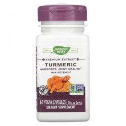 Nature's Way, Premium Extract, Turmeric, 750 mg, 60 Vegan Capsules Pozostałe