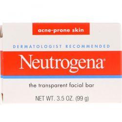 Neutrogena, The Transparent Facial Bar, Acne Prone Skin, 3.5 oz (99 g) Dla Dzieci