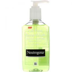 Neutrogena, Oil Free Acne Wash, Redness Soothing Facial Cleanser, 6 fl oz (177 ml) Dla Dzieci