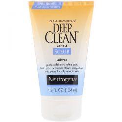 Neutrogena, Deep Clean, Gentle Scrub, Oil Free, 4.2 fl oz (124 ml) Dla Dzieci