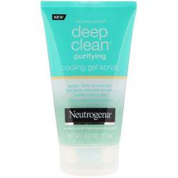 Neutrogena, Deep Clean, Purifying, Cooling Gel Scrub, 4.2 oz (119 g) Dla Dzieci