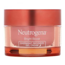 Neutrogena, Bright Boost, Overnight Recovery Gel Cream, 1.7 fl oz (50 ml) Dla Dzieci