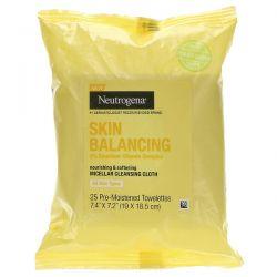 Neutrogena, Skin Balancing, Micellar Cleansing Cloth, 25 Pre-Moistened Towelettes Dla Dzieci