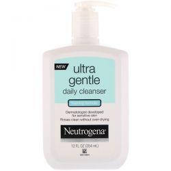 Neutrogena, Ultra Gentle, Daily Cleanser, Foaming Formula, 12 fl oz (354 ml) Dla Dzieci
