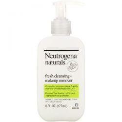 Neutrogena, Neutrogena, Naturals, Fresh Cleansing + Makeup Remover, 6 fl oz (177 ml) Dla Dzieci
