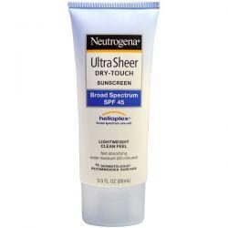 Neutrogena, Ultra Sheer Dry-Touch Suncreen, SPF 45, 3.0 fl oz (88 mL) Dla Dzieci