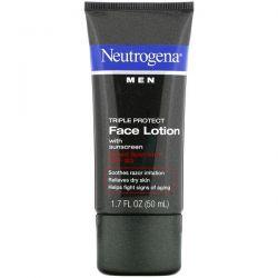 Neutrogena, Men, Triple Protect Face Lotion with Sunscreen, SPF 20, 1.7 fl oz (50 ml) Dla Dzieci