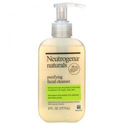 Neutrogena, Neutrogena, Naturals, Purifying Facial Cleanser, 6 fl oz (177 ml) Dla Dzieci