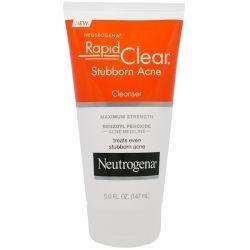 Neutrogena, Rapid Clear, Stubborn Acne Cleanser, Maximum Strength, 5.0 fl oz (147 ml) Dla Dzieci