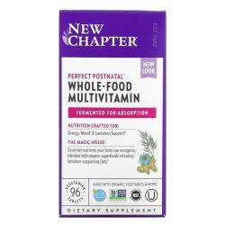 New Chapter, Perfect Postnatal, Whole-Food Multivitamin, 96 Vegetarian Tablets Dla Dzieci