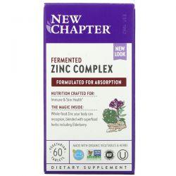 New Chapter, Fermented Zinc Complex, 60 Vegetarian Tablets Dla Dzieci