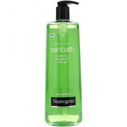 Neutrogena, Rainbath, Renewing Shower and Bath Gel, Pear & Green Tea, 16 fl oz (473 ml) Dla Dzieci