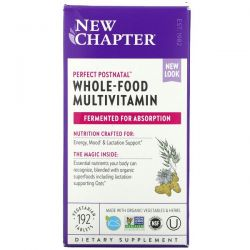 New Chapter, Perfect Postnatal Whole-Food Multivitamin, 192 Vegetarian Tablets Dla Dzieci