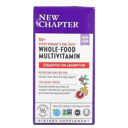 New Chapter, 55+ Every Woman's One Daily, Whole-Food Multivitamin, 96 Vegetarian Tablets Dla Dzieci