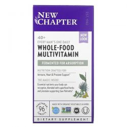 New Chapter, 40+ Every Man's One Daily, Whole-Food Multivitamin, 96 Vegetarian Tablets Dla Dzieci