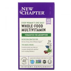 New Chapter, Every Woman's One Daily Whole-Food Multivitamin, 48 Vegetarian Tablets Dla Dzieci