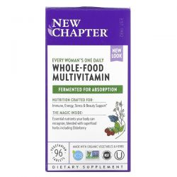 New Chapter, Every Woman's One Daily, Whole-Food Multivitamin, 96 Vegetarian Tablets Dla Dzieci