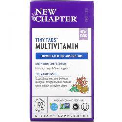 New Chapter, Tiny Tabs Multivitamin, 192 Vegetarian Tablets Dla Dzieci