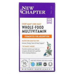 New Chapter, Every Man's One Daily Whole-Food Multivitamin , 96 Vegetarian Tablets Dla Dzieci
