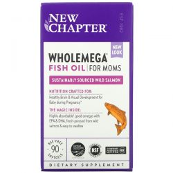 New Chapter, Wholemega Fish Oil for Moms, 90 Softgels Dla Dzieci