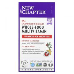 New Chapter, 55+ Every Woman's One Daily, Whole-Food Multivitamin, 72 Vegetarian Tablets Dla Dzieci