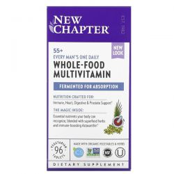 New Chapter, 55+ Every Man's One Daily, Whole-Food Multivitamin, 96 Vegetarian Tablets Dla Dzieci