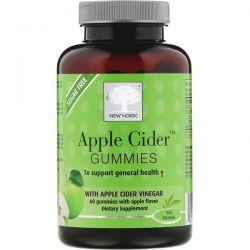 New Nordic, Apple Cider Gummies, Apple Flavor, 60 Gummies Dla Dzieci