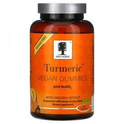 New Nordic, Turmeric Vegan Gummies with Curcuma Extract, Mango-Orange, 60 Gummies Dla Dzieci