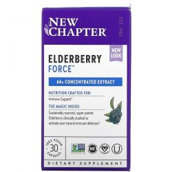 New Chapter, Elderberry Force, 30 Vegan Capsules Dla Dzieci