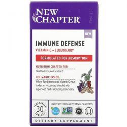 New Chapter, Immune Defense, Vitamin C + Elderberry, 30 Vegetarian Tablets Dla Dzieci