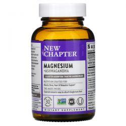 New Chapter, Magnesium + Ashwagandha, 30 Vegan Tablets Dla Dzieci