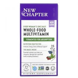 New Chapter, Every Woman's One Daily, Whole-Food Multivitamin, 72 Vegetarian Tablets Dla Dzieci