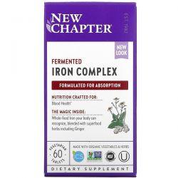 New Chapter, Fermented Iron Complex, 60 Vegetarian Tablets Dla Dzieci