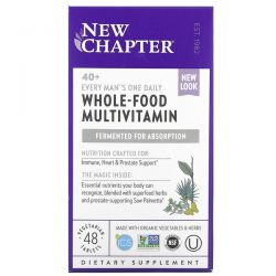 New Chapter, 40+ Every Man's One Daily, Whole-Food Multivitamin, 48 Vegetarian Tablets Pozostałe