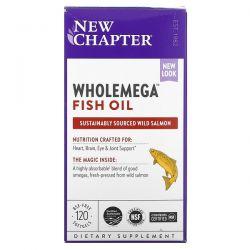 New Chapter, Wholemega Fish Oil, 120 Softgels Dla Dzieci