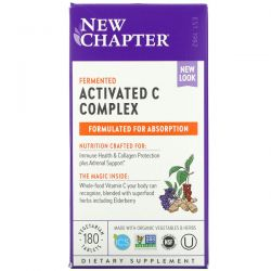 New Chapter, Fermented Activated C Complex, 180 Vegetarian Tablets Dla Dzieci